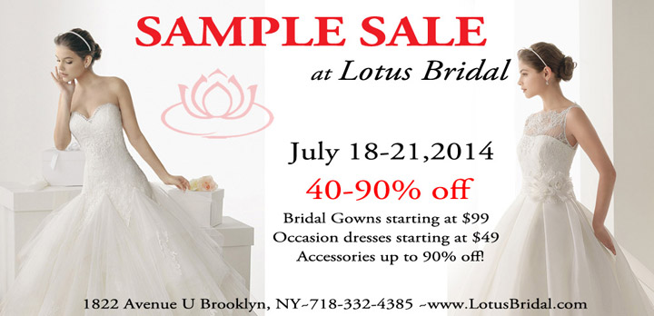 Lotus Bridal Blow Out Sample Sale