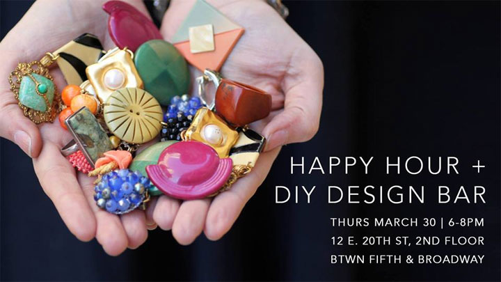 Lulu Frost Open Studio Happy Hour + DIY Design Bar