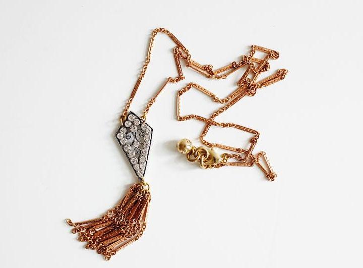 Lulu Frost deco scroll necklace: $93 (orig. $215)