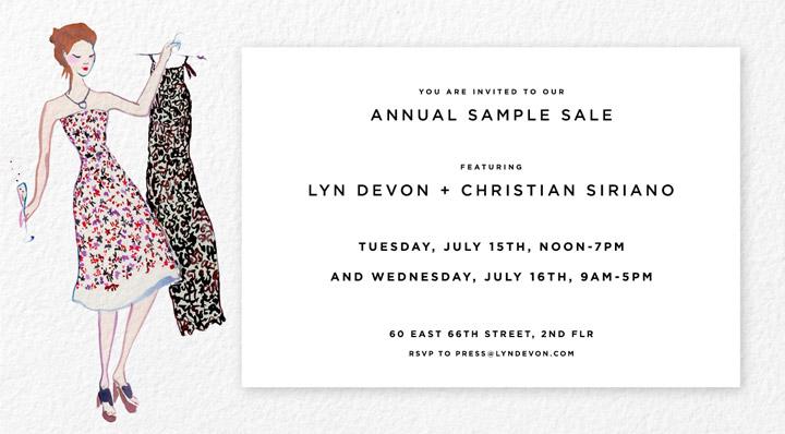 Lyn Devon & Christian Siriano Sample Sale