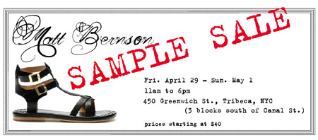 Matt Bernson Sample Sale