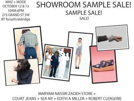 MNZ + Mode Showroom Sample Sale