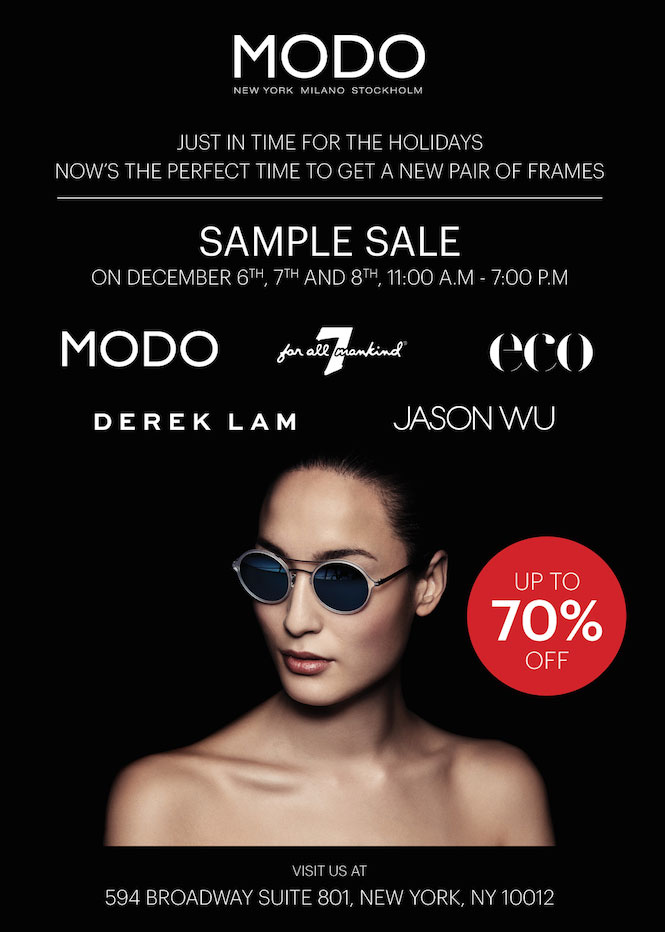 MODO Eyewear Sample Sale