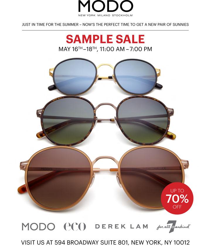 MODO Eyewear Sample Sale