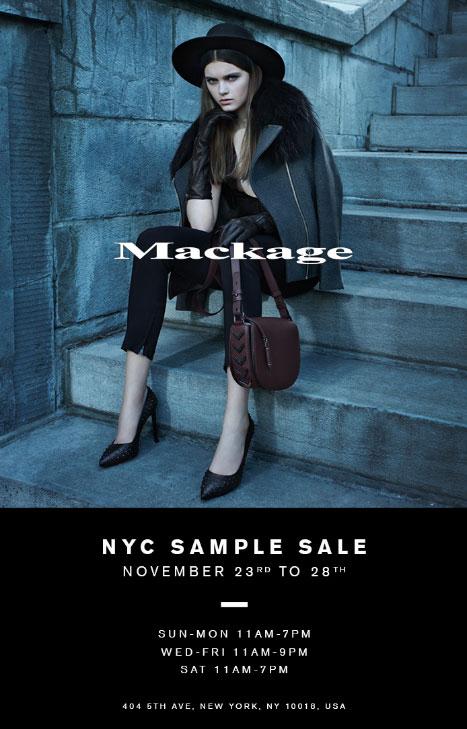 Mackage Sample Sale