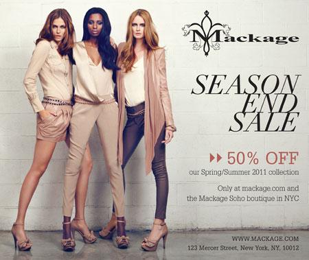 Mackage End-of-season Retail Sale