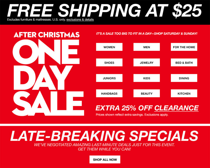Macy's After-Christmas Sale