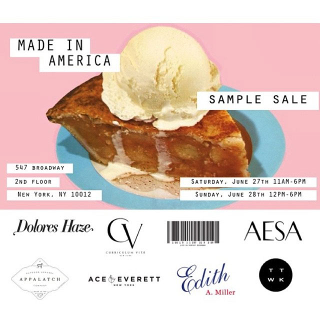 Made in America Sample Sale