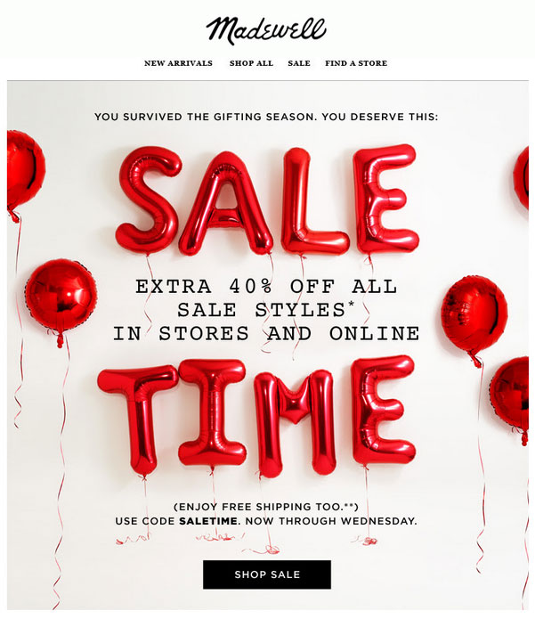 Madewell After-Christmas Sale