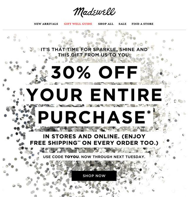 Madewell Holiday Sale