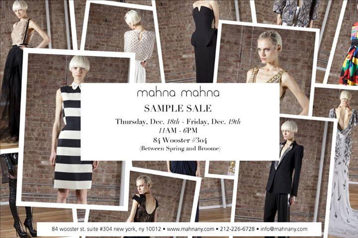 Mahna Mahna Sample Sale