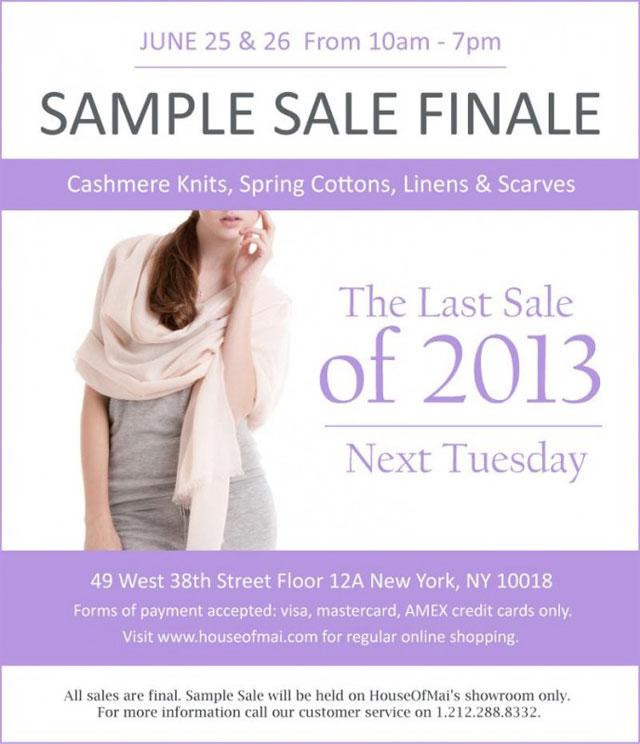 maiCashmere Sample Sale