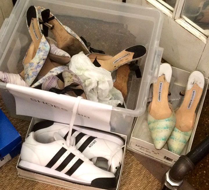 Manolo Blahnik and Adidas Shoes for $80