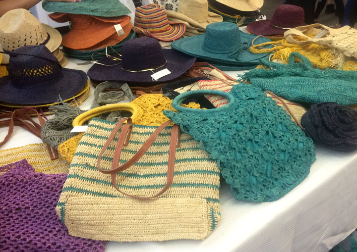 Mar Y Sol beach bags for $30, sun hats and clutches for $20