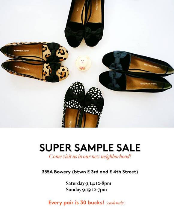 Marais USA Super Sample Sale
