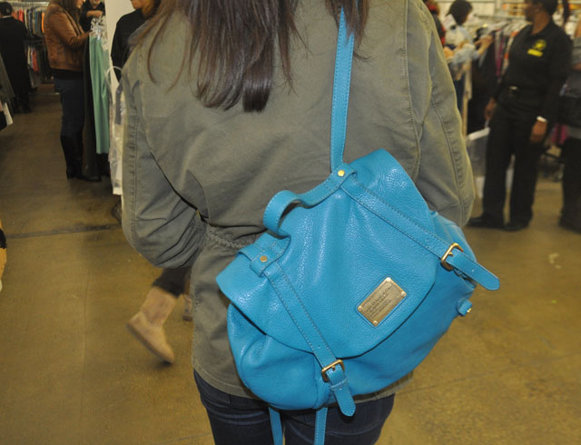Marc Jacobs Teal backpack was $300