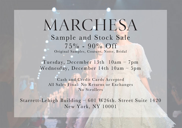 Marchesa Sample & Stock Sale