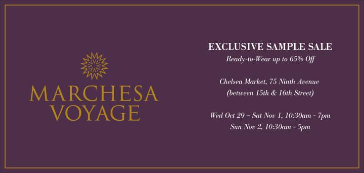 Marchesa Voyage Exclusive Sample Sale