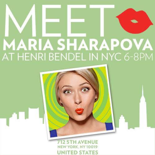 Maria Sharapova at Henri Bendel
