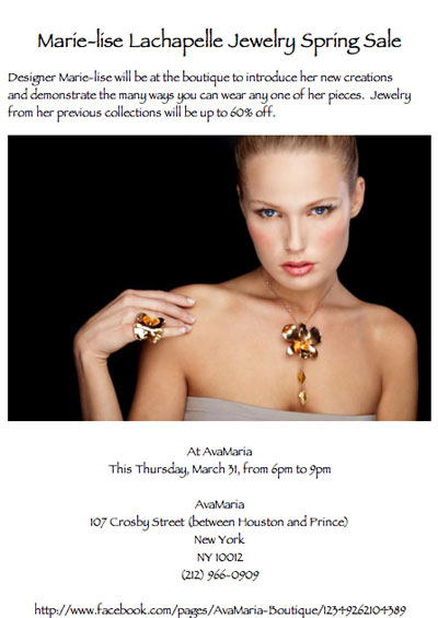 Marie-lise Lachapelle Spring Jewelry Sale