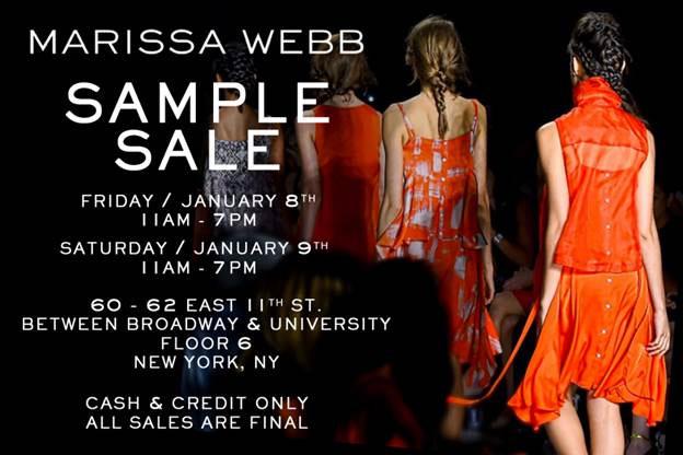 Marissa Webb Sample Sale
