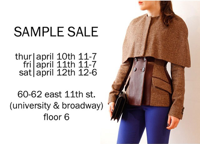 Marissa Webb Clothing & Footwear New York Sample Sale ...
