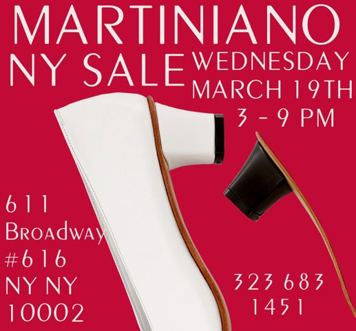 Martiniano Sample Sale