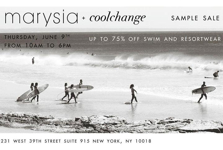 Marysia + coolchange Sample Sale