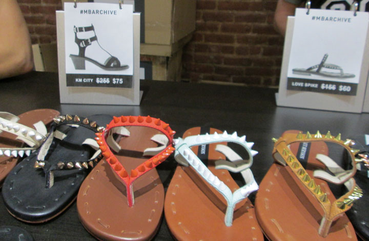 Love Spike Sandals for $60 down from $156