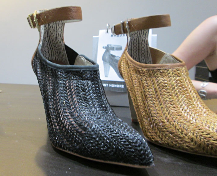 Perforated leather styles including Saint-Honore Booties