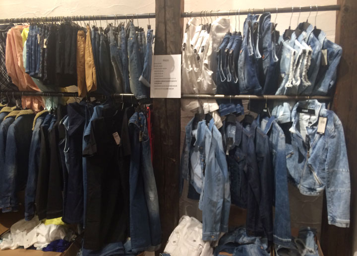 Denim jackets for $30, skirts and dresses for $15