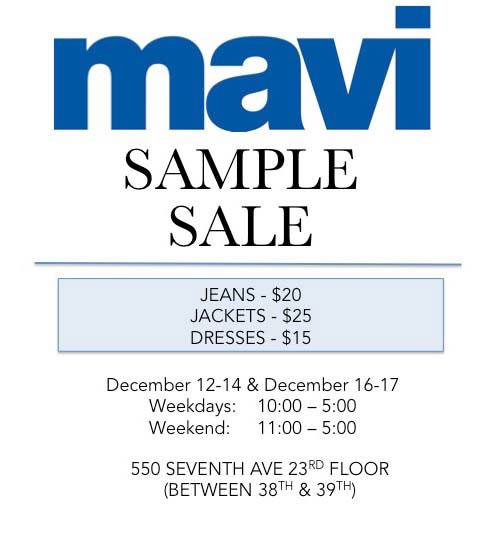 Mavi Sample Sale