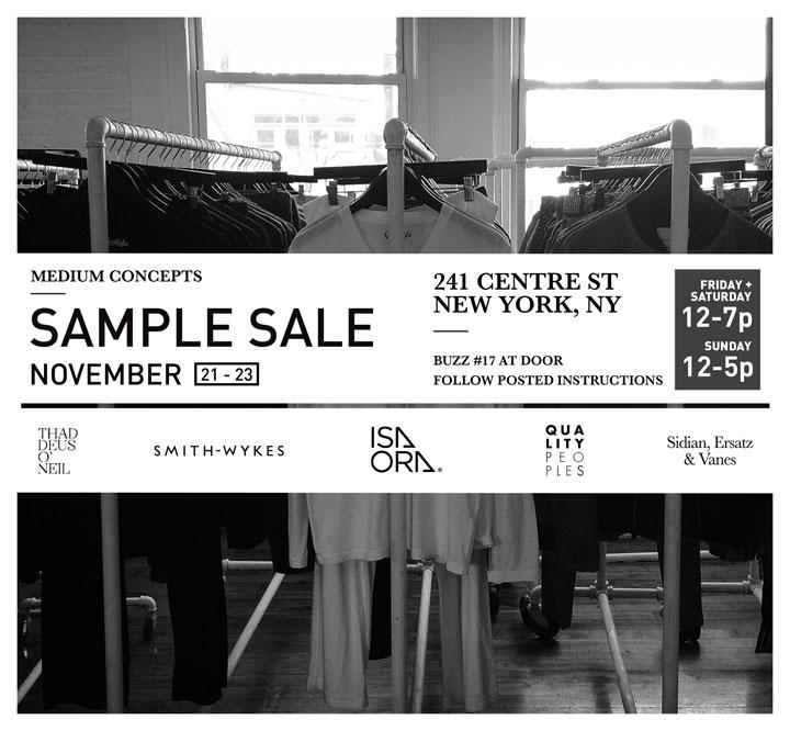 Medium Concepts Sample Sale