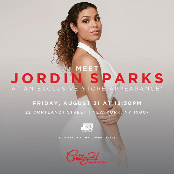 Meet Jordin Sparks at C21 Downtown