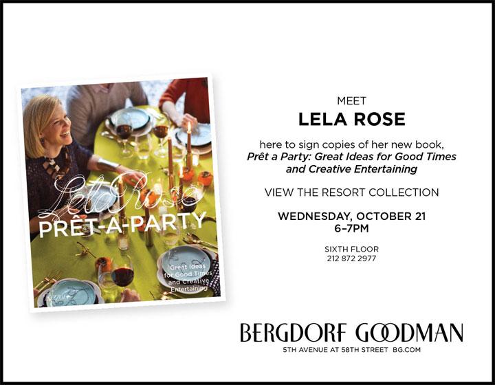 Meet Lela Rose at Bergdorf Goodman