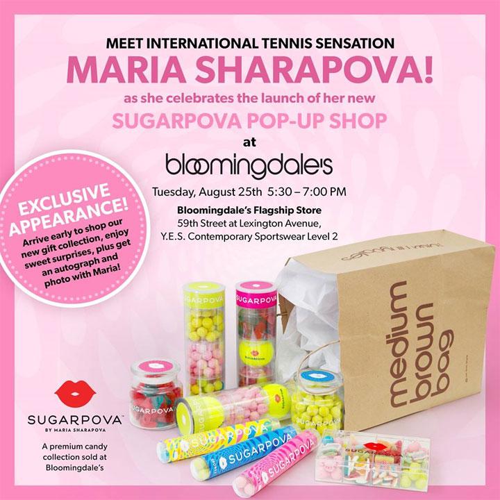 Meet Maria Sharapova at Sugarpova's New Pop-Up Shop