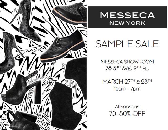 Messeca New York Sample Sale