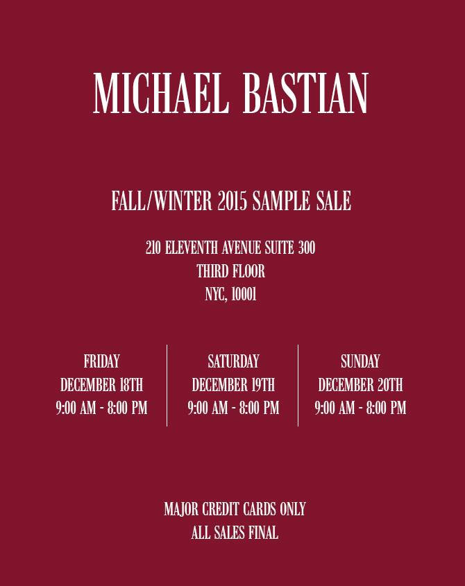 Michael Bastian Sample Sale