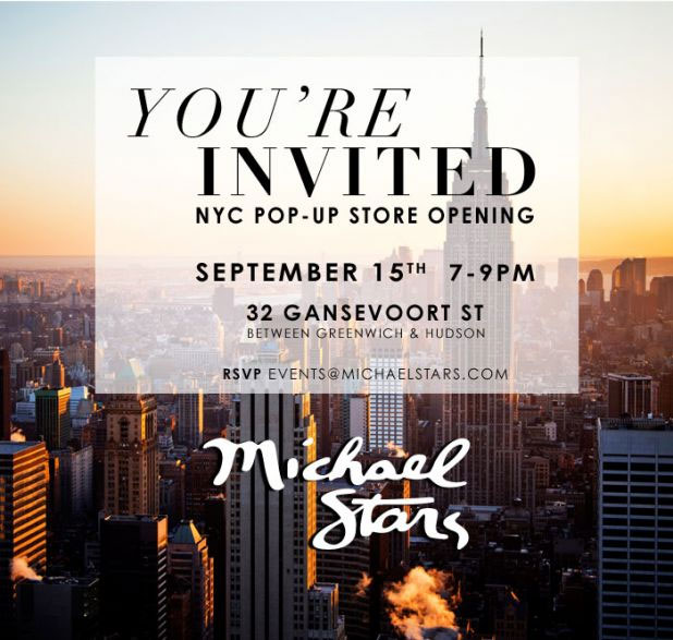 Michael Stars NYC Pop-Up Store Opening Celebration