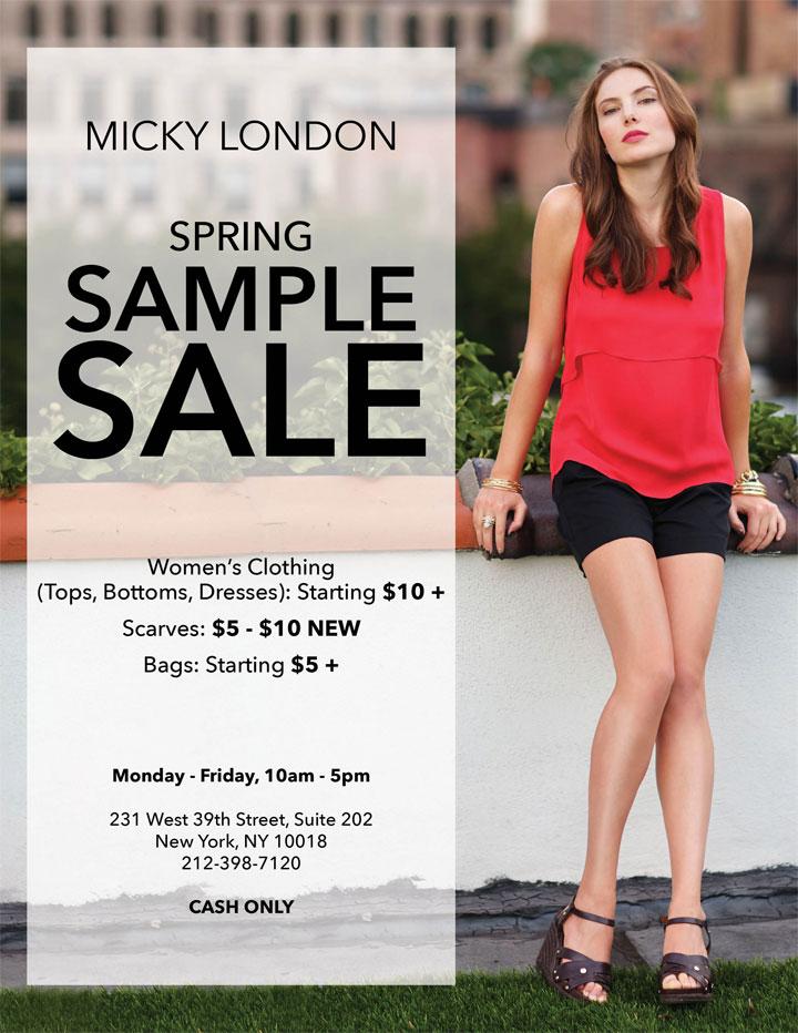 Micky London Sample Sale