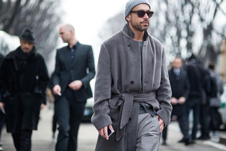 Menswear fashion week looks from streets of Milan