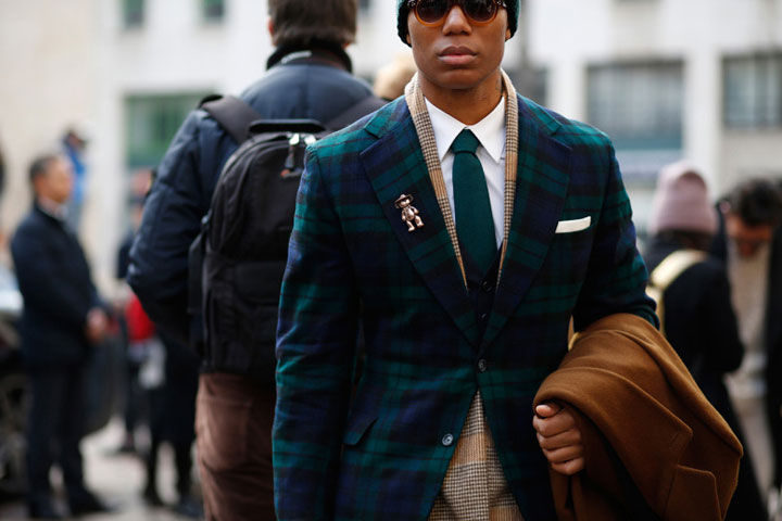 Menswear fashion week looks from the streets of Milan