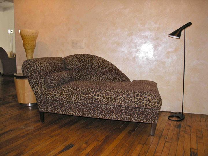 Millennium Collection Diabolique Chaise - Walnut on Maple finish, Animal Print: $1,290 (orig. $4,100)