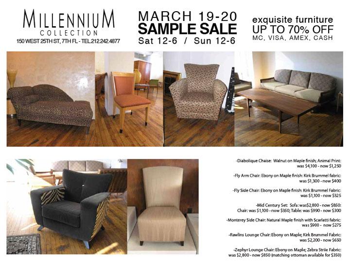Millennium Collection Sample Sale