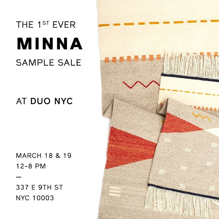 Minna + Duo Sample Sale