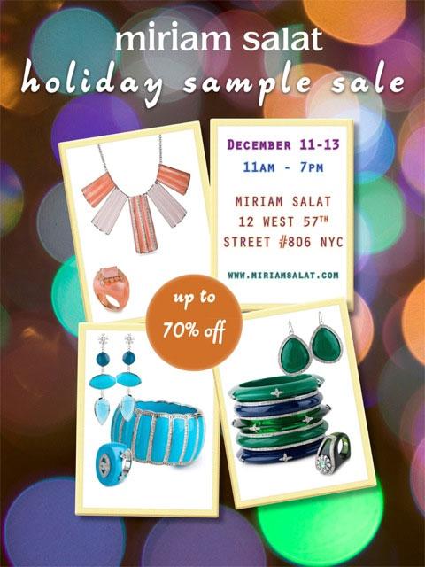 Miriam Salat Holiday Sample Sale