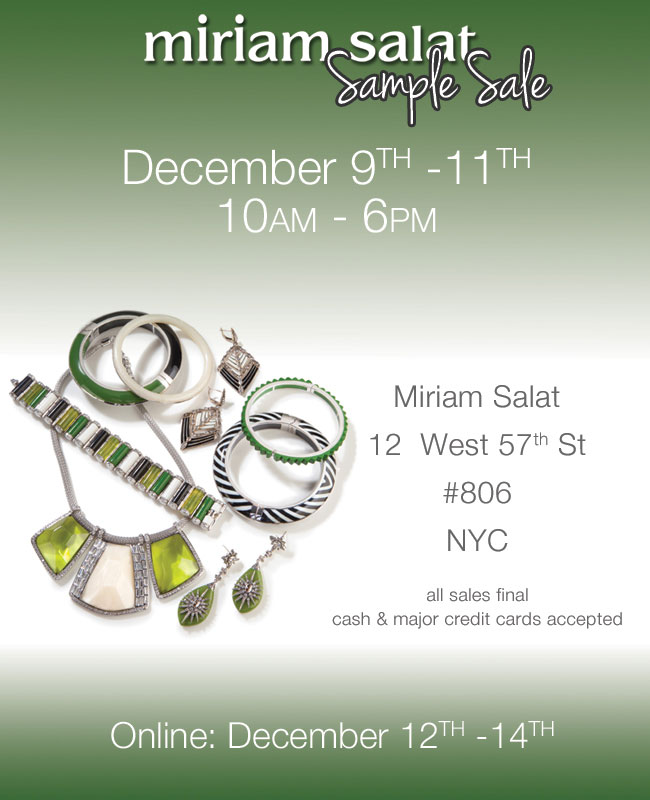 Miriam Salat Sample Sale