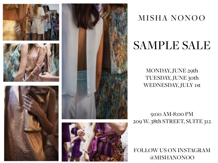 Misha Nonoo Sample Sale
