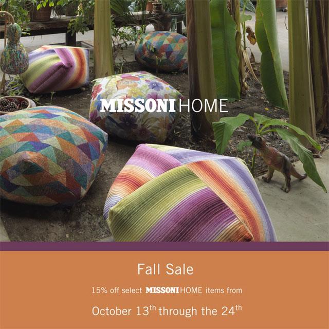 MissoniHome Fall Sale