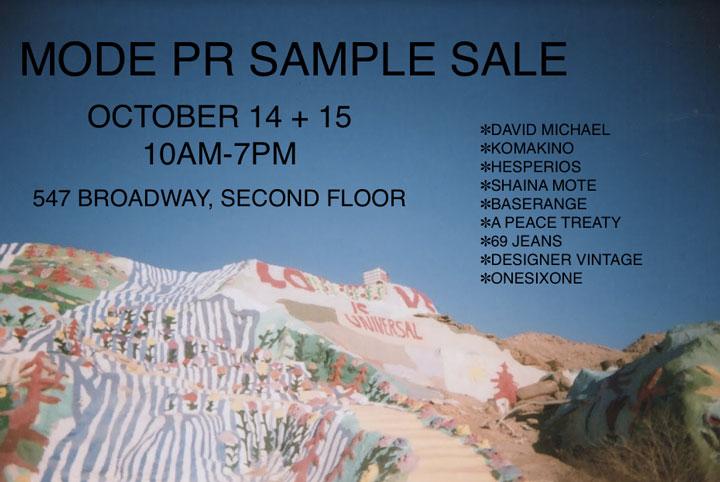 Mode PR Sample Sale